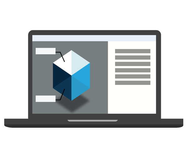 illustration application Web 3D